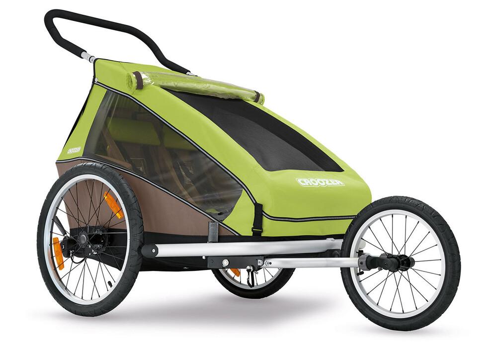 croozer kid for 2 remorque v lo beige vert sur. Black Bedroom Furniture Sets. Home Design Ideas